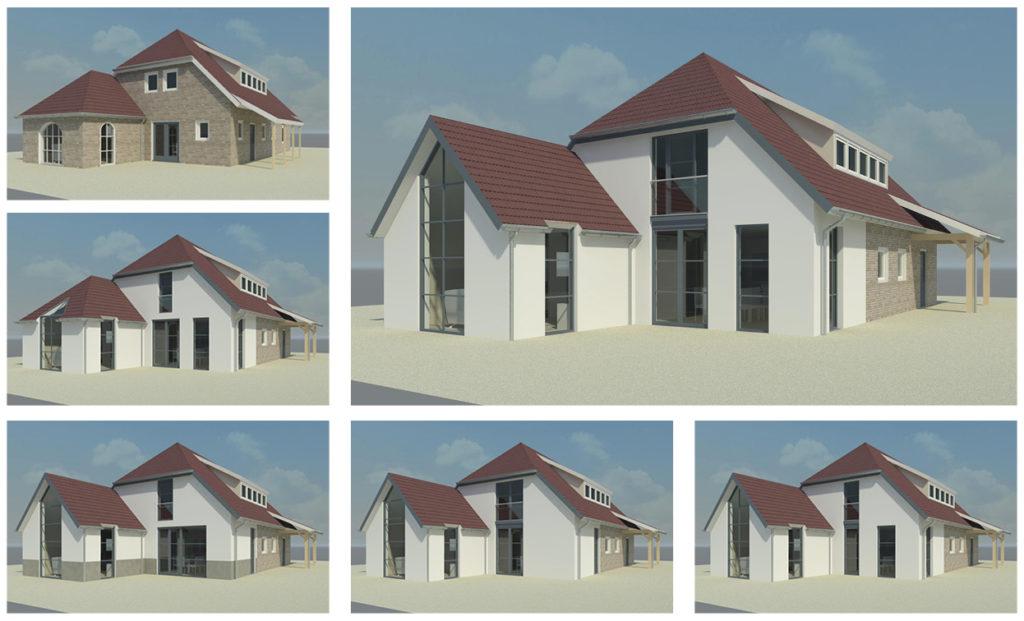ontwerpstudie restyling landelijke woning