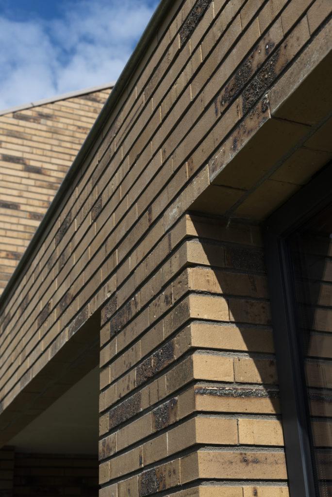 vrijstaande woning in baksteen - detail gvelopeningen
