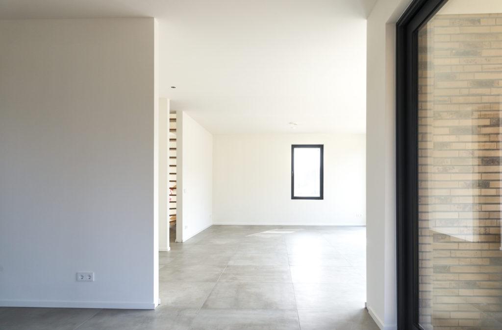 vrijstaande woning in baksteen - interieur - woonkamer